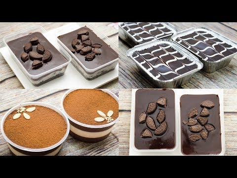 3 EASY NO-BAKE DESSERT BOX L EGGLESS & WITHOUT OVEN
