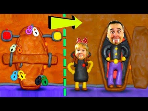КАК открыть ЭТУ ДВЕРЬ? ПАПА оказался в ГРОБУ! Арина и Папа Ищут Ключи #3! Пластилиновая видео ИГРА!