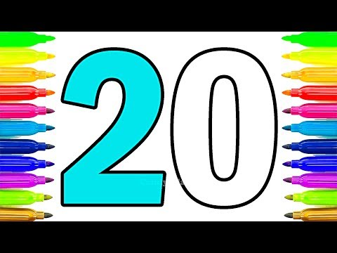 Colouring Numbers   Learn Colors And Numbers From 1 To 20   Learning Video For Toddlers