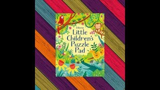 Usborne Little Children's Puzzle Pad