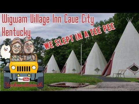 Wigwam Village Inn Cave City Kentucky Review And Walkthrough Mammoth Cave Road Side America