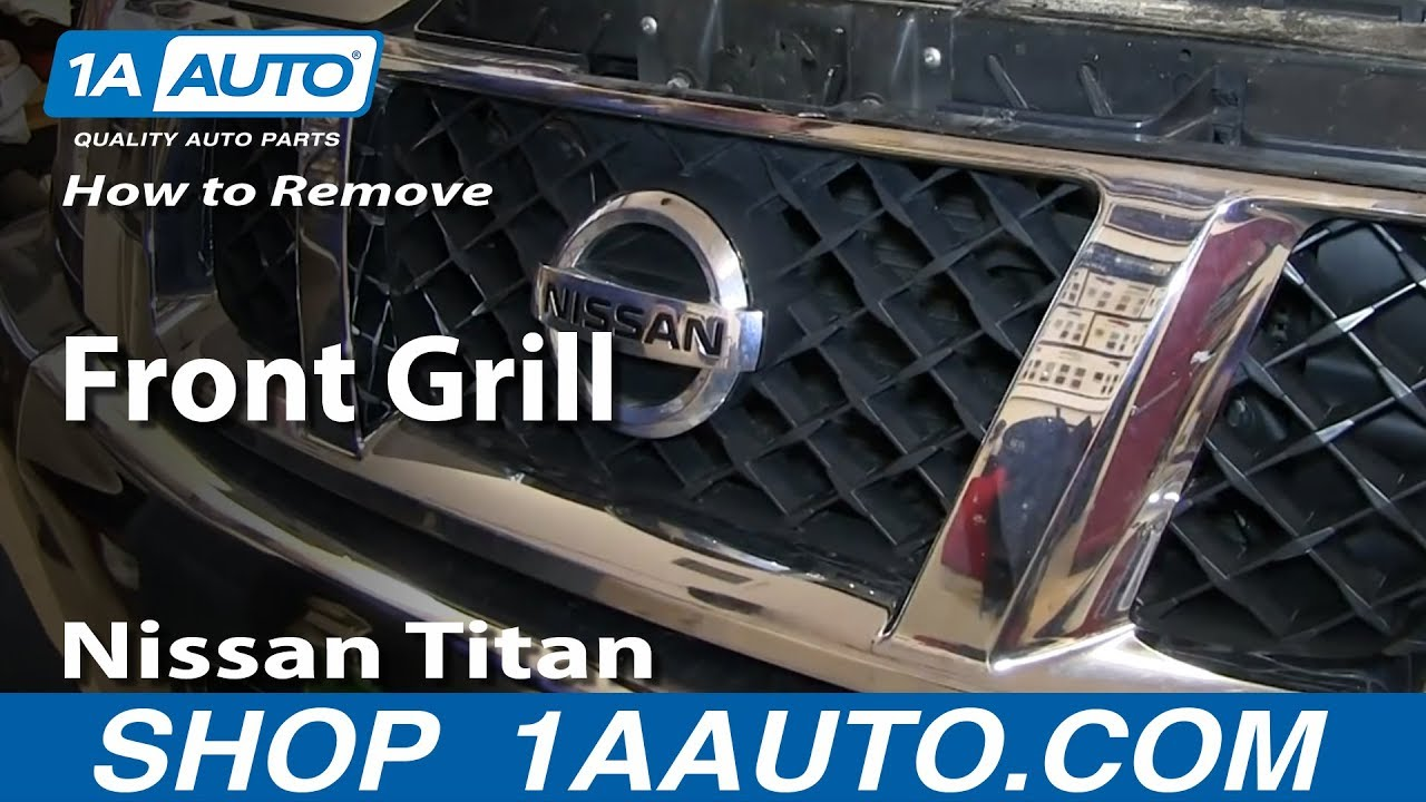 hight resolution of how to remove install front grill nissan titan and armada
