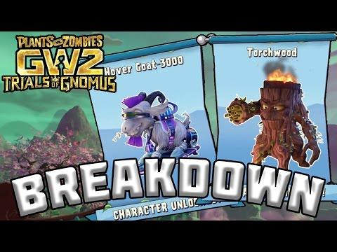 NEW CHARACTERS! TORCHWOOD + HOVERGOAT-3000 BREAKDOWN - Plants vs Zombies Garden Warfare 2