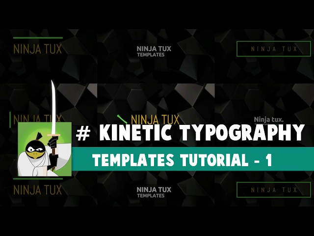 Blender Tutorial + Template - Kinetic Typography - Títulos Animados - Animated Titles