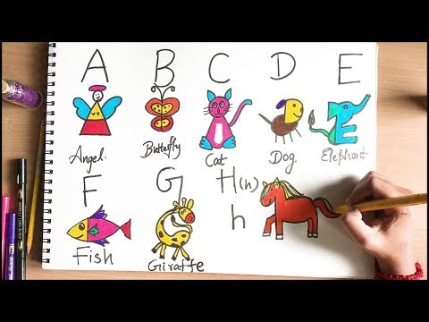 How To Draw With Alphabets | Learn With Fun | Drawing For Kids