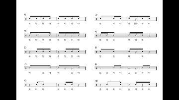 [드럼레슨] 드러머라면 꼭 알아야 할 14개의 16th 리듬 배우기!