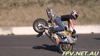 WAPWON COM DAVE MCKENNA WHEELIE ZONE AUSTRALIAS BEST FREESTYLE MOTORBIKE STUNT RIDER