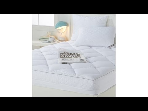 Concierge Mattress Pad and Pillows with Compression Bag