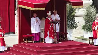 EVENT CAPSULE CLEAN - Pope Francis Leads Palm Sunday Mass at St. Peter's Square on April 13, 2014 in thumbnail