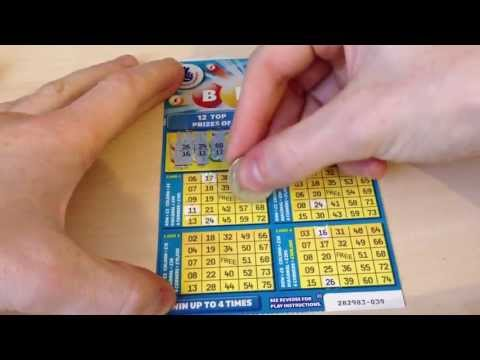 National Lottery Bingo Scratchcards Prize