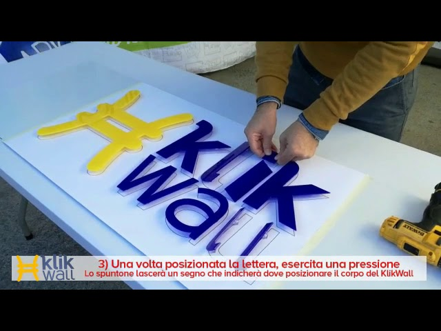 KLIW WALL letter fixings