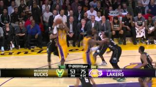 NBA 2015-16 Kobe Bryant's Sick Pass Bucks@Lakers December 15, 2015