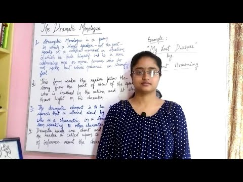 Dramatic monologue   explained in hindi   