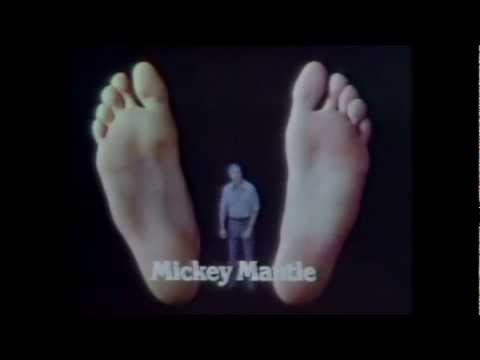 Mickey Mantle for NP27 Foot Spray (1975)