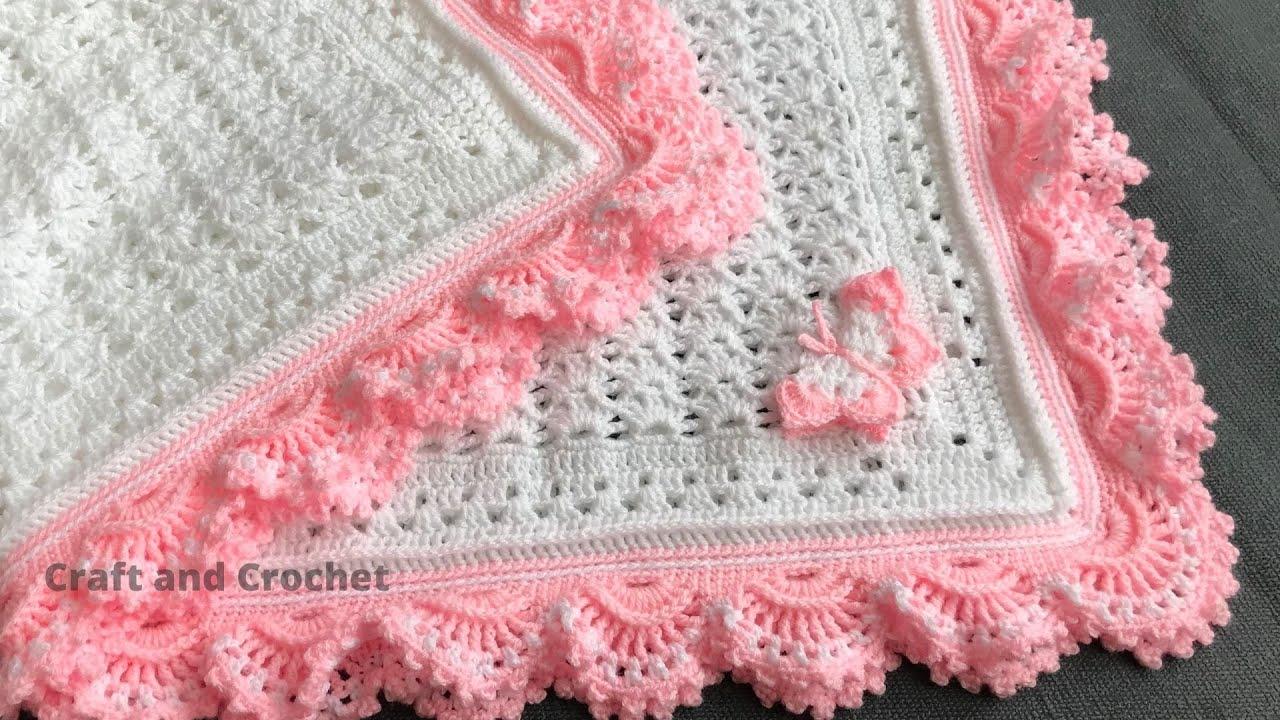 Easiest crochet baby blanket/crochet blanket pattern/craft & crochet blanket 3601
