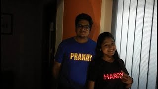Create customised LED t-shirt with your name