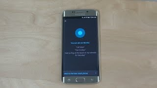 Samsung Galaxy S6 Cortana Intelligent Personal Assistant - Review (4K)