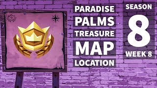 Fortnite ¦ Search the Treasure Map Signpost Found in Paradise Palms Leaked Challenge