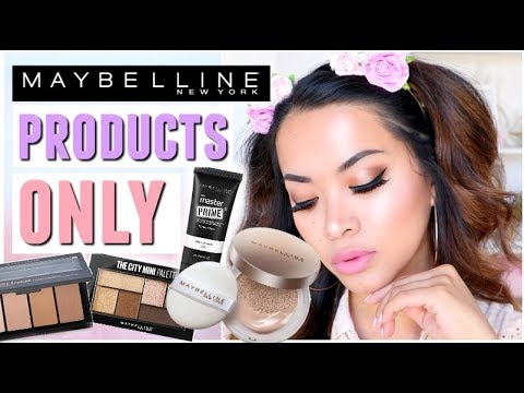 FULL FACE USING ONLY MAYBELLINE PRODUCTS!