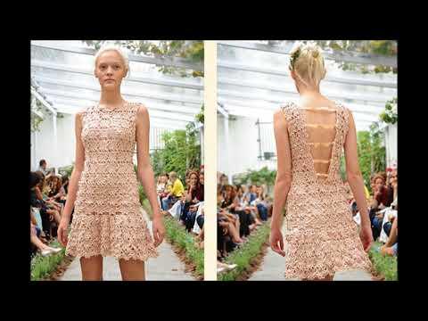 Платья вязаные крючком дизайнерские