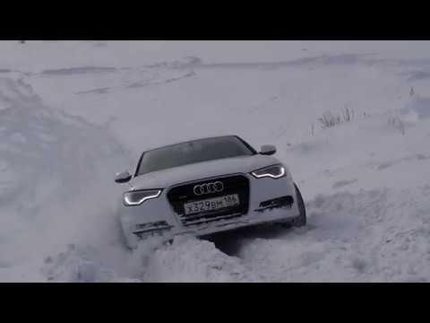 Audi A6 Quattro штурмует подъем
