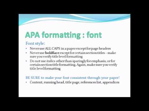 APA formatting PowerPoint Presentation YouTube