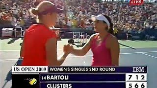 Kim Clijsters vs Marion Bartoli 2009 US Open Highlights