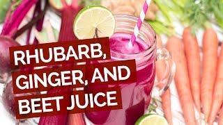 Rhubarb, Ginger & Beet Juice Recipe