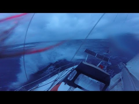When The Atlantic Ocean Gets Rough, Still Single Handed - Ep 20 - The Sailing Frenchman