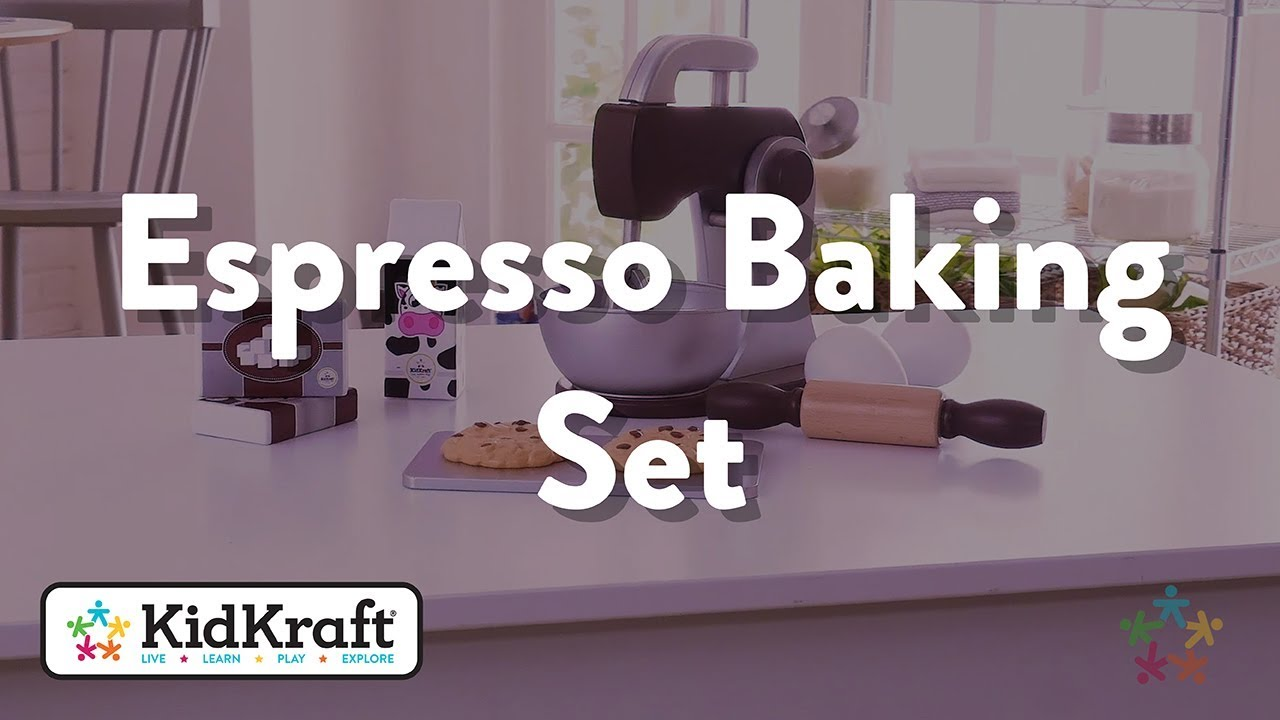 Kidkraft Küche Espresso Baking Set Espresso Toy Demo By Kidkraft