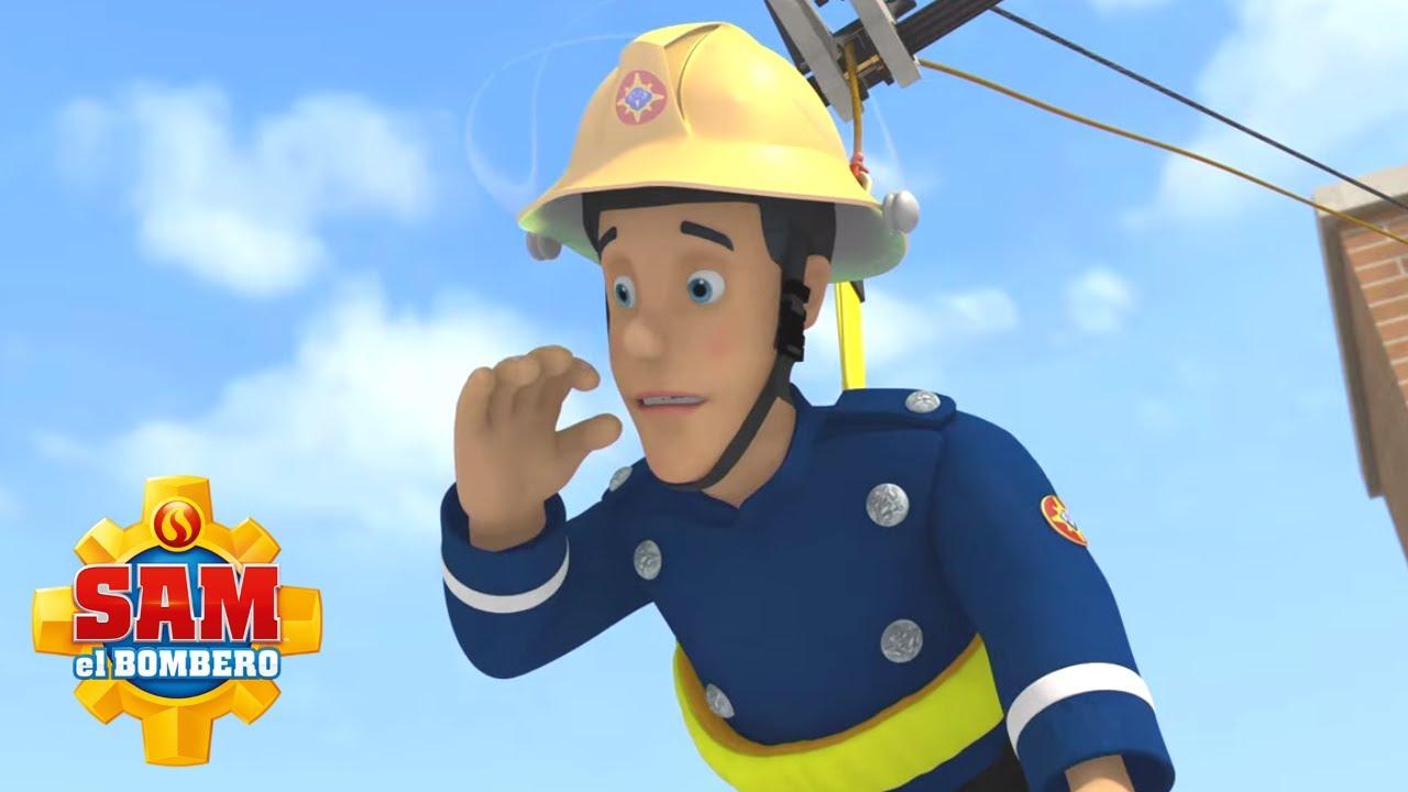 ¡Elvis vuela alto! | Sam el Bombero | Mejores videos de bomberos | Dibujos animados