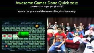 "Go Watch ""awesome Games Done Quick 2012"""