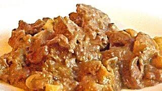Куриная Печень с Яблоками и Луком в Мультиварке по-Берлински кулинарный видео рецепт