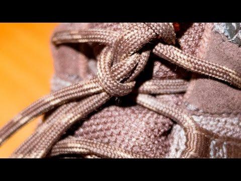 Как завязать круглые шнурки (чтобы не развязывались)