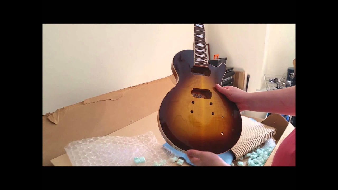 precision guitar kits les paul project unboxing youtube