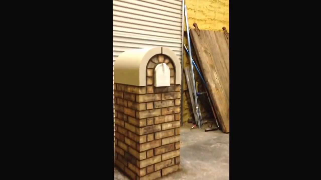 how to build a brick and cast stone masonry mailbox 4 youtube. Black Bedroom Furniture Sets. Home Design Ideas