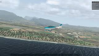 Cirrus SR22T descending to Saint Pierre Pierrefonds international airport under x-plane 11.31