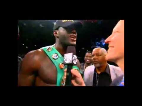Deontay Wilder's Post Fight Interview After Decapitating Bermane Stiverne