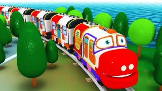 Chugging Express: Toy Factory Toy Train Cartoon Cartoon Express Train | Chuggi The Toy Cartoon Train