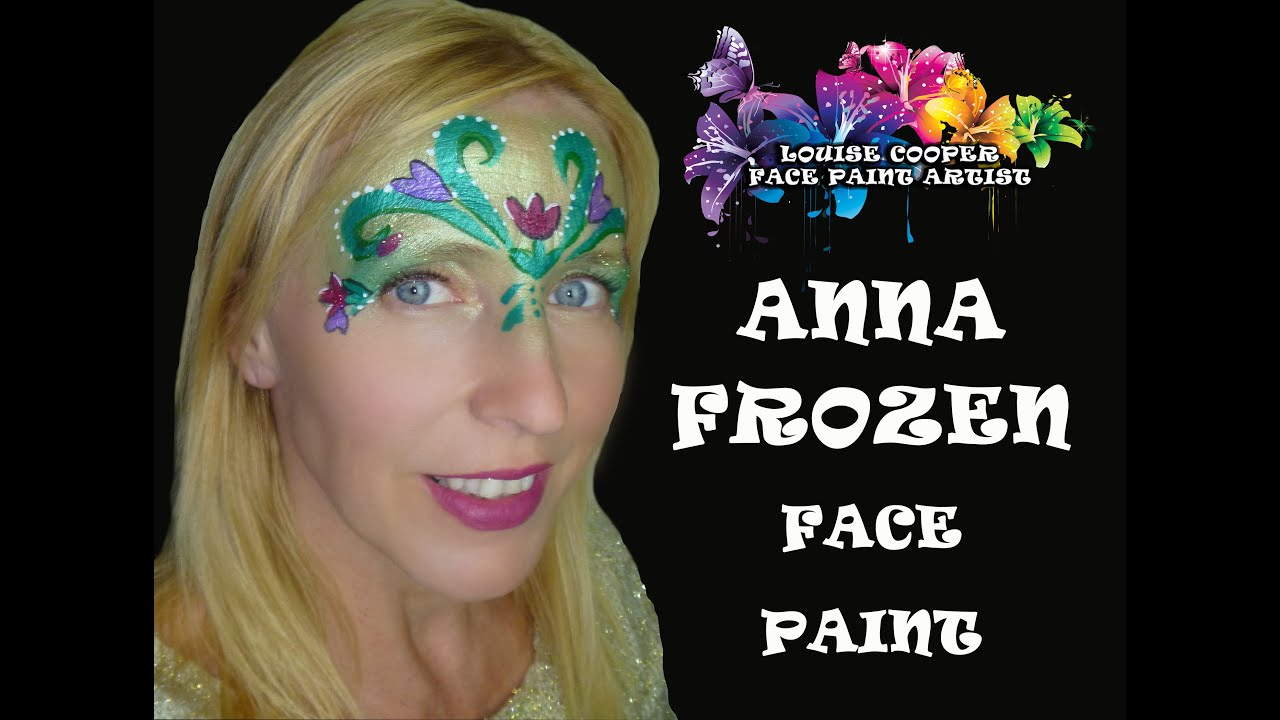 Anna Frozen Face Paint Tutorial - YouTube