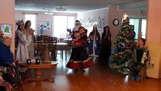 """Концерт в доме престарелых. Цыганский танец """"Кумушка"""". Школа танцев """"Экспромт""""."""
