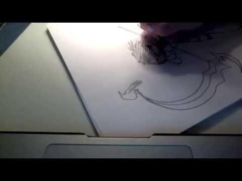Anime Girl Lineart : Drawing anime girl lineart youtube