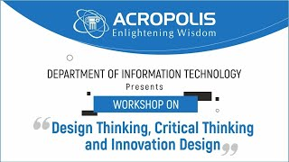 Workshop on Design Thinking, Critical Thinking and Innovation Design
