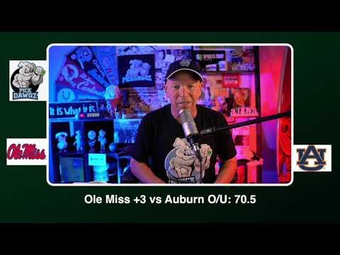 Auburn vs Ole Miss Free College Football Picks and Predictions CFB Tips Saturday 10/24/20