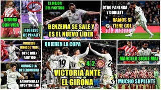 EL REAL MADRID GANA AL GIRONA (4-2): QUIEREN LA COPA   DOBLETE DE RAMOS   BENZEMA MVP   MARCELO...