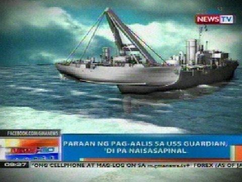 NTG: Paraan ng pag-aalis sa USS Guardian, 'di pa naisasapinal