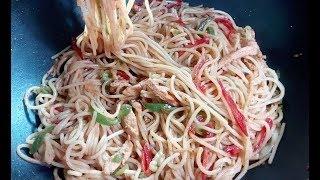 Tasty Spaghetti Recipe !! Chicken Vegetable Spaghetti Easy & Quick !! स्पगिटी रेसिपी !! چکن اسپیگٹی