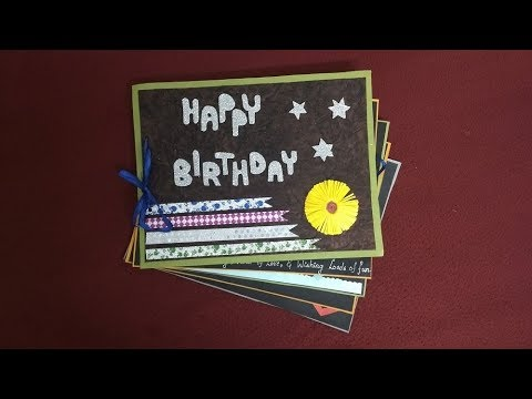 a beautiful birthday scrapbook idea for sister : how to make scrapbook