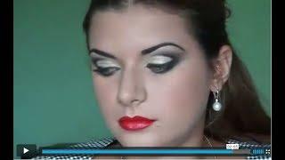 Аэромакияж. Техника глаз-банан. Make-up by Tatiana Galkina.