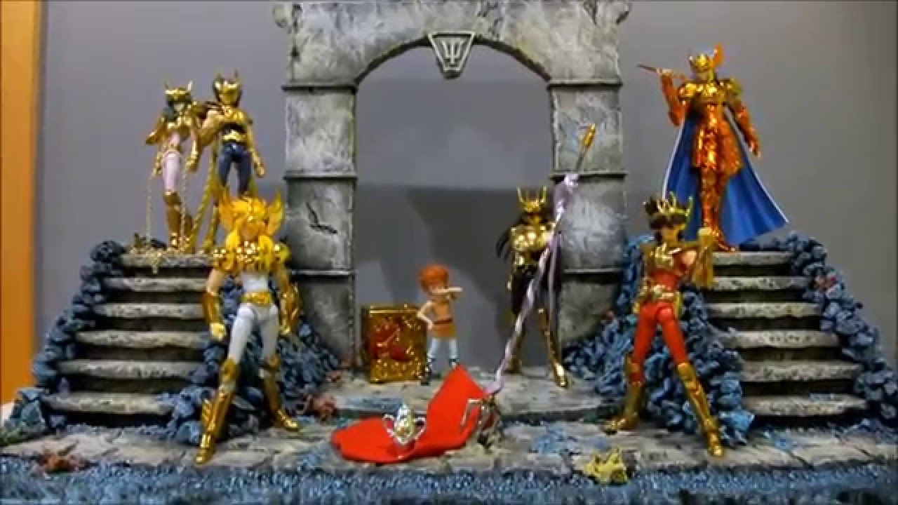 Saint seiya myth cloth la collection de miketigra nouveau d cor pos idon youtube - Decor saint seiya myth cloth ...
